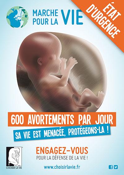 affiche Marche pour la vie